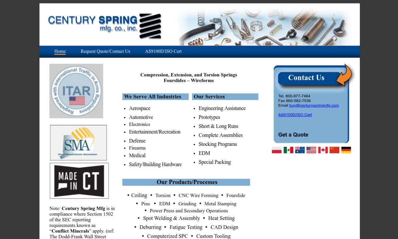 Century Spring Manufacturing Company, Inc.