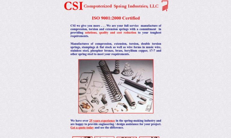 Computerized Spring Industries, LLC