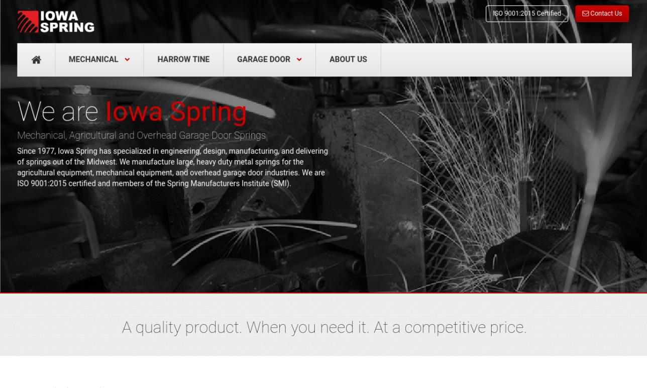 Iowa Spring Manufacturing, Inc.