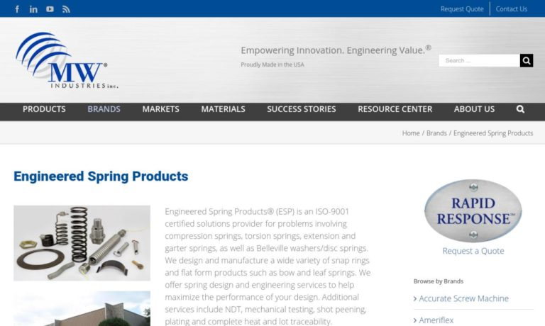 Engineered Spring Products, Inc.